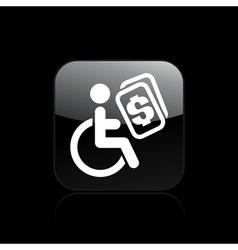 handicap icon vector image vector image