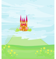 magic sky castle vector image vector image