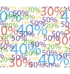 Seamless background of discounts vector image vector image