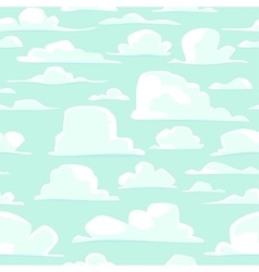 Seamless background with cartoon clouds vector image