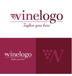 wine logo icon and logo vector image