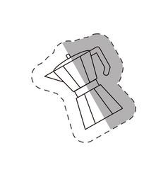 coffee pot handle line vector image