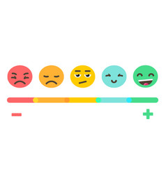 emoji feedback emotions scale vector image vector image