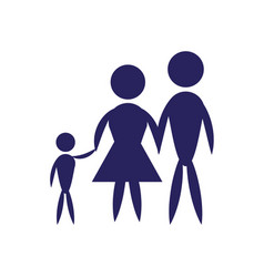 family father mother and son pictogram vector image