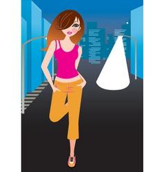 girl vector image vector image