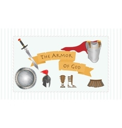 The Armor of God Christianity Message Protestant vector image