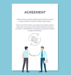 agreement visualization poster vector image