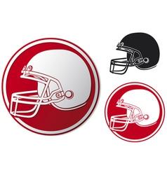 American football helmet icon vector image