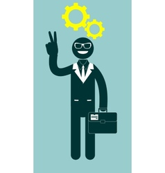 Black man with a thinking head vector image
