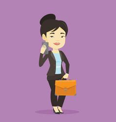 business woman making selfie vector image