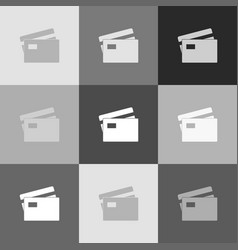 credit card sign grayscale version of vector image vector image