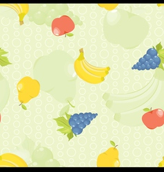 seamless background with cartoon fruit apples pear vector image vector image