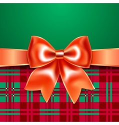 Template with ribbon bow vector image