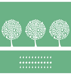 three trees on a green background a vector illustr vector image vector image