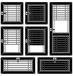 venetian blind window black symbols vector image vector image
