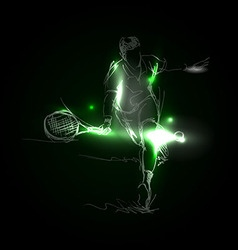 A tennis player vector