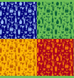 alcohol seamless patterns vector image