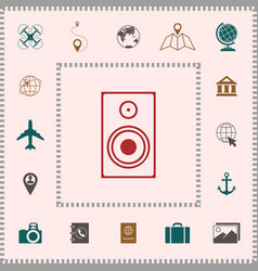 audio speaker icon elements for your design vector image