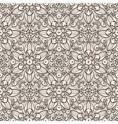Beige lace pattern vector image
