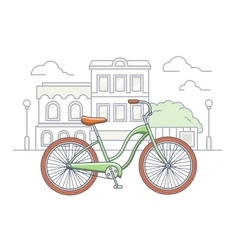 Bicycle on the street vector image vector image
