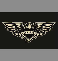 Black eagle symbol emblem vector
