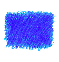 blue crayon scribble texture stain isolated on vector image
