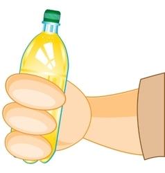 Bottle of juice in hand vector