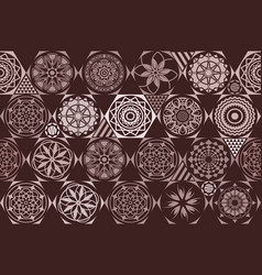 brown seamless ceramic tile with colorful vector image