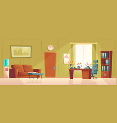 Cartoon empty office with ringing phone vector