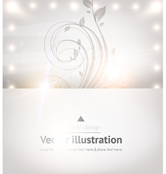 Classical White Floral Design vector image