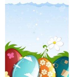 Colorful painted Easter eggs vector image