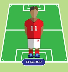 Computer game England Soccer club player vector