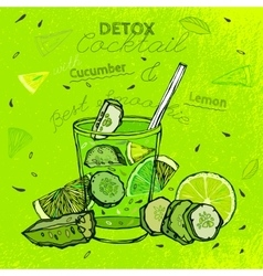 Cucamber Lemon Smoothie vector image