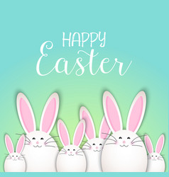cute easter bunny background vector image