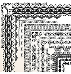 decorative borders for your design vector image