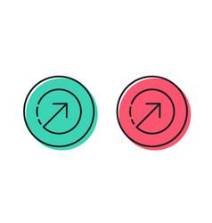Direction arrow line icon arrowhead vector