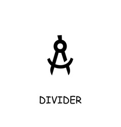Divider flat icon vector