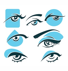 Eye and vision symbols vector