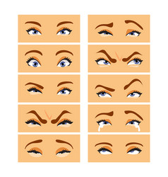 eyes with emotions vector image