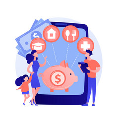 family budget planning abstract concept vector image