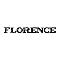 florence stamp typ vector image