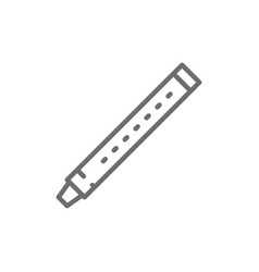 flute sopilka clarinet bassoon line icon vector image