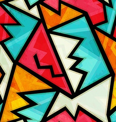 Graffiti colorful geometric seamless pattern with vector