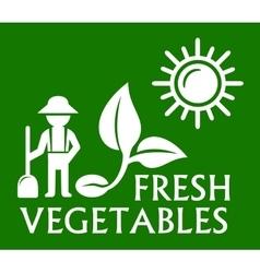 Green plant symbol vector