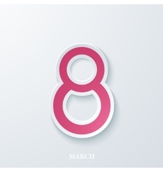 greeting card on the day of 8 March vector image