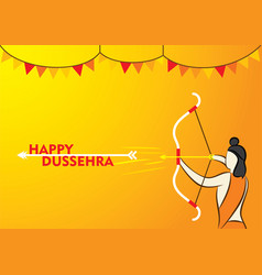 happy dussehra poster design vector image