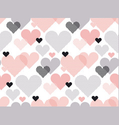 Heart shape modern seamless pattern in geometry vector