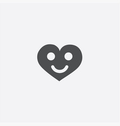 Heart smile icon vector