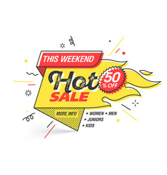 Hot sale weekend special offer banner template in vector