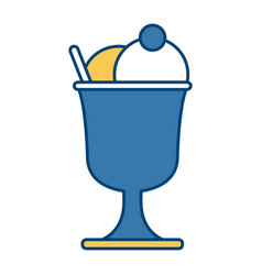 ice cream cup vector image